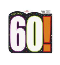 Schild verjaardag 60 jaar