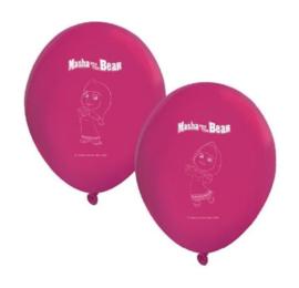 Masha en de beer ballonnen 8 stuks
