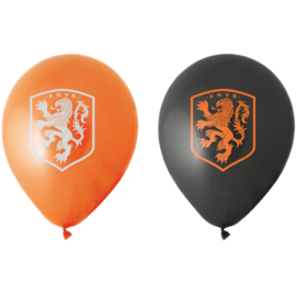 Oranje voetbal KNVB ballonnen 8 stuks