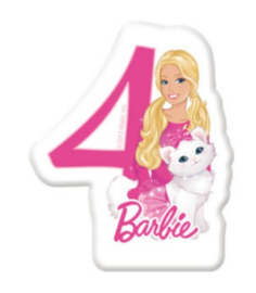 Barbie taartkaars cijfer vier
