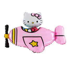 Hello Kitty folie ballon vliegtuig 61cm