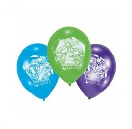 Ballonnen Ninja Turtles 6 stuks