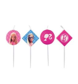 Barbie kaarsjes 4 stuks