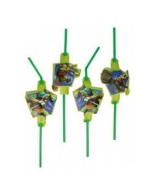 The Turtles rietjes 8 stuks