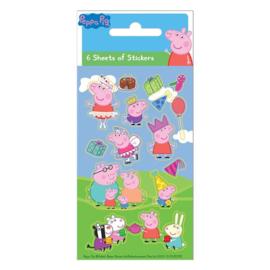 Peppa Pig stickers 6 vellen