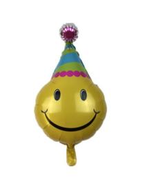 Emoticon folie ballon verjaardag 73x46cm