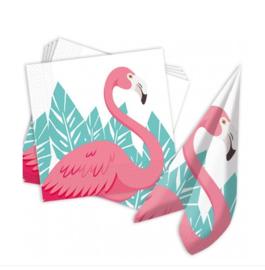 Flamingo servetten 20 stuks 33x33cm