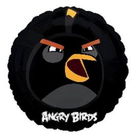 Angry Birds zwart folie ballon 45cm