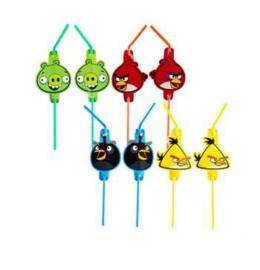 Angry Birds rietjes 8 stuks 24cm