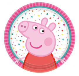 Peppa Pig bordjes 8 stuks 18cm