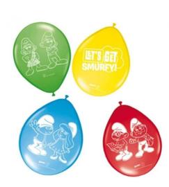 De Smurfen ballonnen 8 stuks