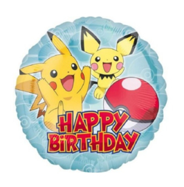 Pokemon happy birthday folie ballon 43cm