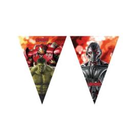 Avengers slinger vlaggenlijn plastic 2,3m