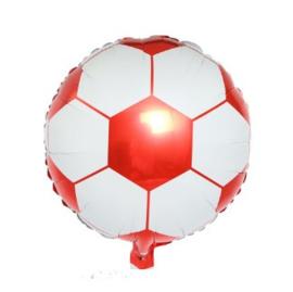 Voetbal folie ballon 45cm