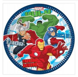 Marvel avengers borden 8 stuks 23cm