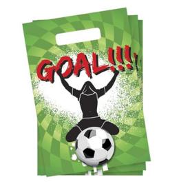 Voetbal goal feestzakjes 6st