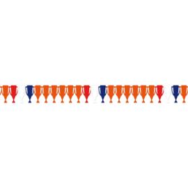 Oranje voetbal EK beker slinger 6m