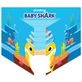 Baby Shark uitnodigingen 8st