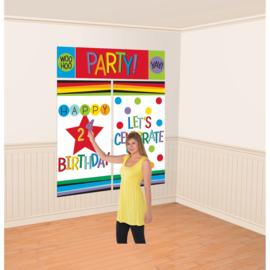 Verjaardag muur versiering personaliseerbaar 1,5m