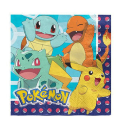 Pokemon servetten 16 stuks 33x33cm