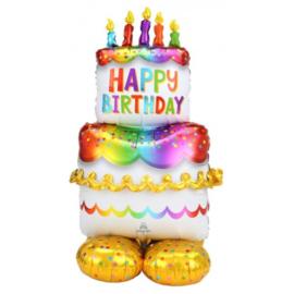 Opblaasbare taart folie ballon 130cm