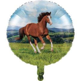 Paard folie ballon 46cm
