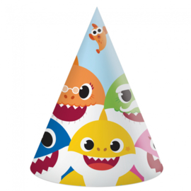 Baby Shark feesthoedjes 6 stuks