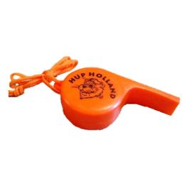 Oranje voetbal fluitje XXL