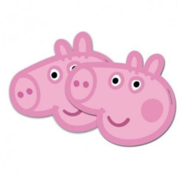 Peppa Pig maskers 6 stuks