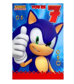Sonic verjaardagskaart 7 jaar