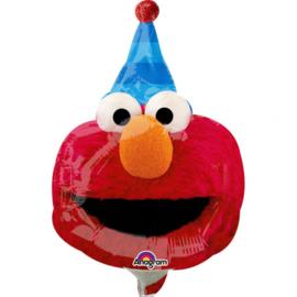 Elmo Koekiemonster folie ballon op stok 25cm