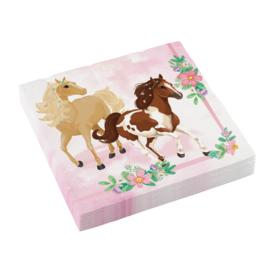 Paarden servetten 20 stuks 33x33cm