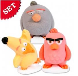 Angry Birds suikerfiguren drie stuks