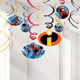 The Incredibles hangdecoratie 6 stuks