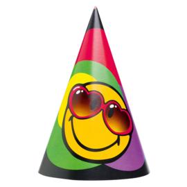 Emoji feesthoedjes 6 stuks