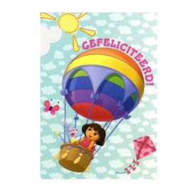 Dora verjaardag kaart 10,5x15cm