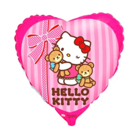 Hello Kitty folie ballon teddybeer 45cm