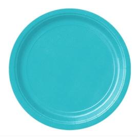 Borden turquoise 23cm 8 stuks