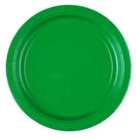 Borden groen 8 stuks 23cm