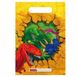 Dinosaurus feestzakjes 6 stuks