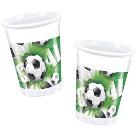 Voetbal bekers plastic 10 stuks