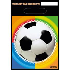 Voetbal feestzakjes 8 stuks 23x16cm