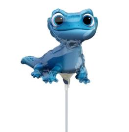 Frozen 2 Lizard folie ballon op stok 20cm