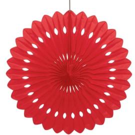 Decowaaier rood 40cm