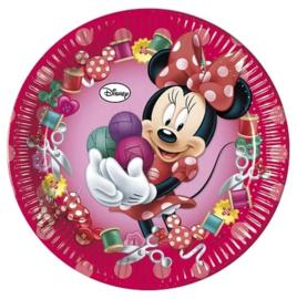 Minnie Mouse borden 8 stuks 23cm