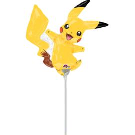 Pokemon Pikachu folie ballon op stok 30cm