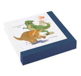 Dinosaurus servetten 20 stuks 33x33cm
