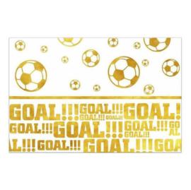 Voetbal tafelkleed goud 120x180cm