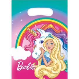Barbie eenhoorn feestzakjes 8 stuks