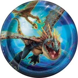 Hoe tem je een draak gebaksbordjes 8 stuks 18cm